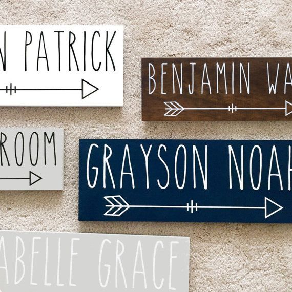 Personalized Name Sign Baby Woodland Nursery