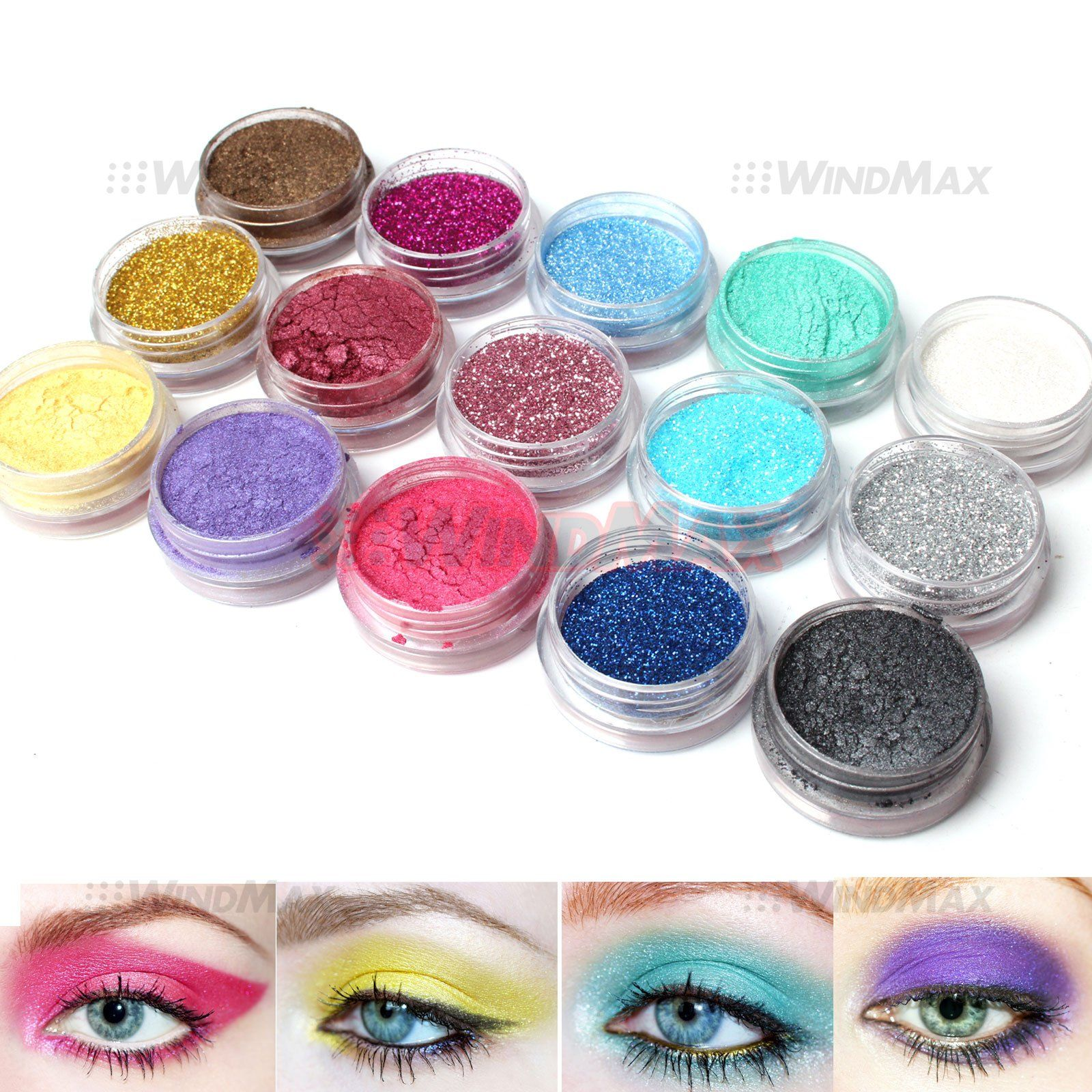 15 Warm Color Glitter Shimmer Pearl Loose Eyeshadow