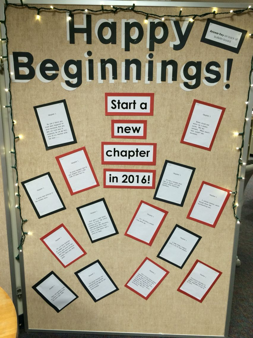 Happy new year bulletin board. All quotes from the first ...