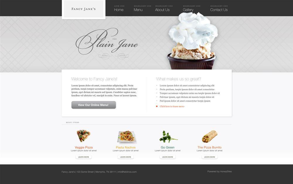 Restaurant Website Design Options And Restaurant Website Templates