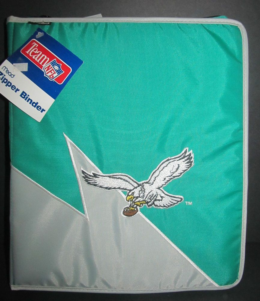 Philadelphia Eagles Mead Zipper Binder Vintage 1995 Old