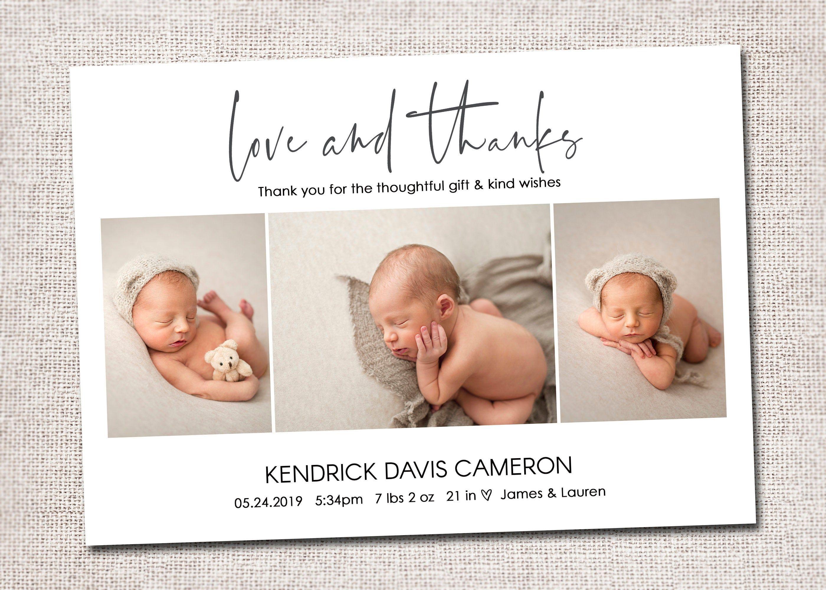 Birth Announcement Baby Boy Announcement Baby Announcement Etsy In 2021 Baby Announcement Cards Baby Thank You Cards Baby Boy Announcement
