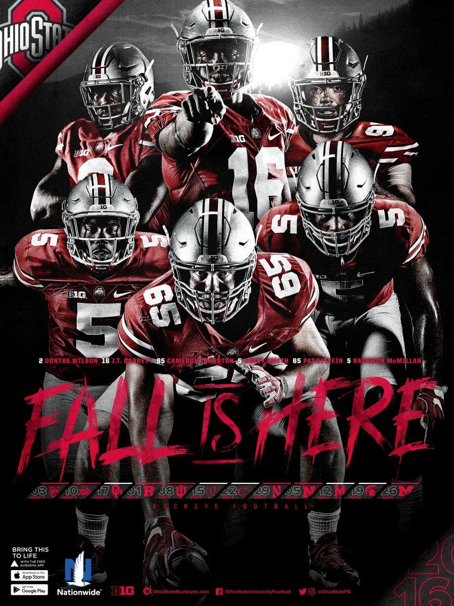 "2016 ohio state football poster | ""thee"" ohio state university"