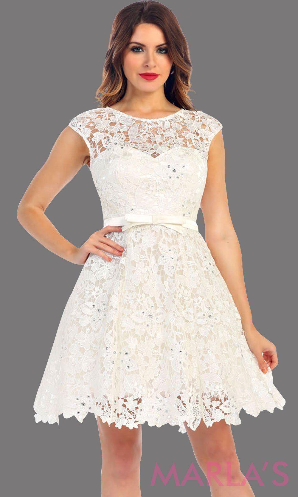 1c8ec828b018 White Lace Flowy Dress Short