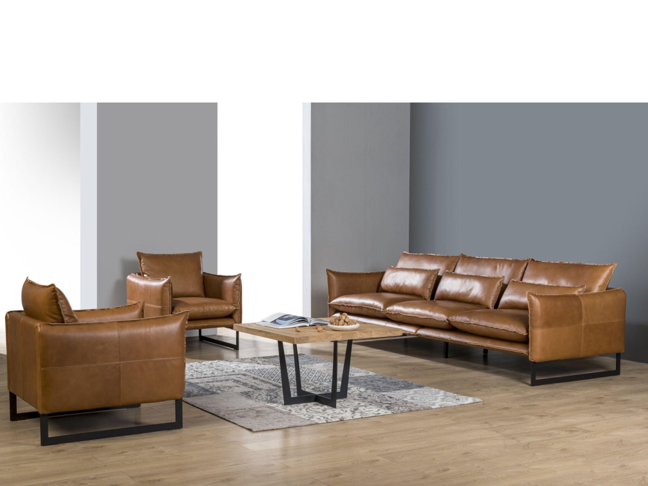 Wunderbar Sofa Und Sessel Referenz Von Primavera, Polster-sofa-sessel-garnitur, Leder, Kos