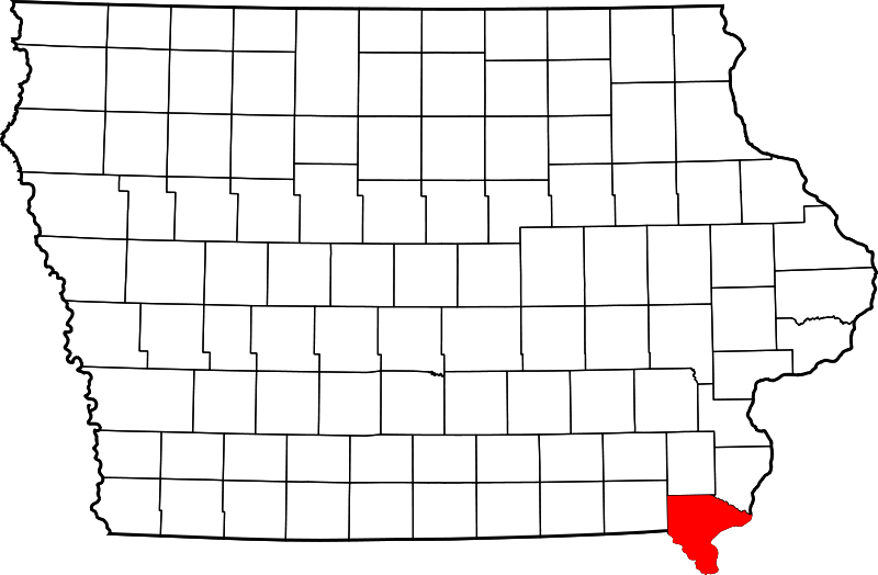Map Of Iowa Highlighting Lee County Fort Madison Iowa Iowa