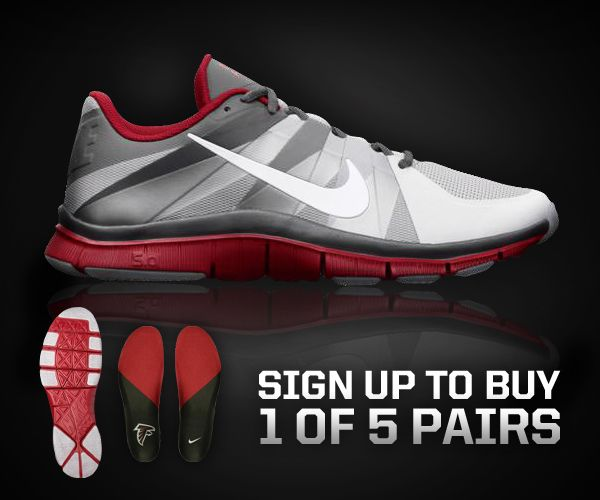 sports shoes a958f b01bb Sign up for the opportunity to buy 1 of only 5 pairs of Atlanta Falcons  Nike Free Trainer 5.0 shoes. Must sign up by Monday 4 30