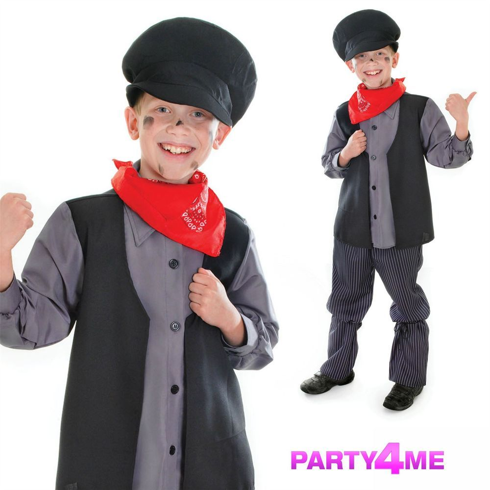 Victorian//OLIVER//URCHIN//Mary Poppins CHIMNEY SWEEP fancy dress outfit all ages