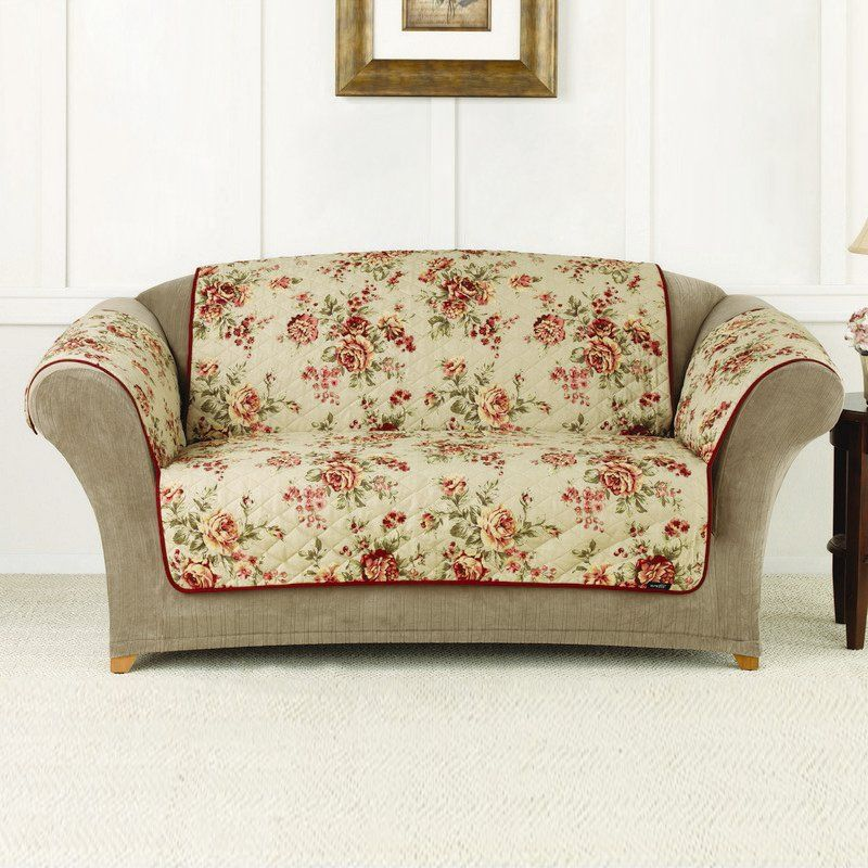Shop Sure Fit Slipcovers Cotton Duck Floral Sofa Pet Cover at ATG