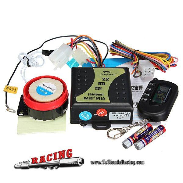 Alarma Antirrobo Con Sensor De Presion Para Moto De Facil