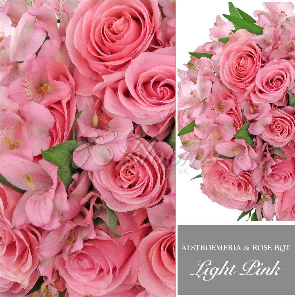 Light Pink Rose & Alstroemeria Monochromatic Bouquets   Pinterest ...