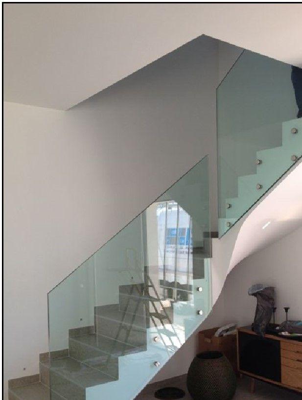 garde corps en verre pour escalier garde corps et dalle en verre pinterest garde corps. Black Bedroom Furniture Sets. Home Design Ideas