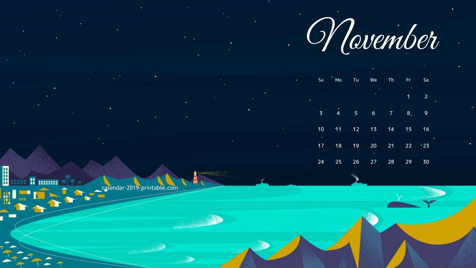 November 2019 Hd Wallpaper Calendar In 2019 2019 Calendar