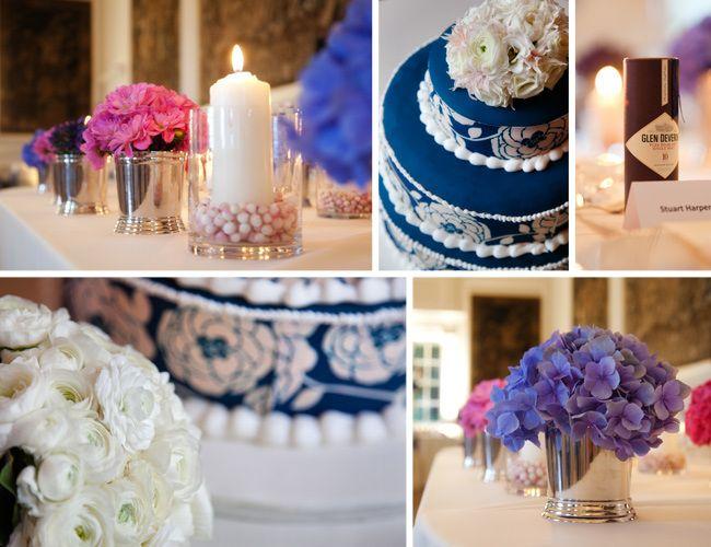 Wedding details in the ballroom at Hopetoun House