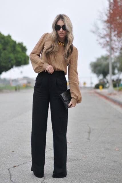 Pantalones Acampanados En 2019 Pantalones De Vestir Mujer