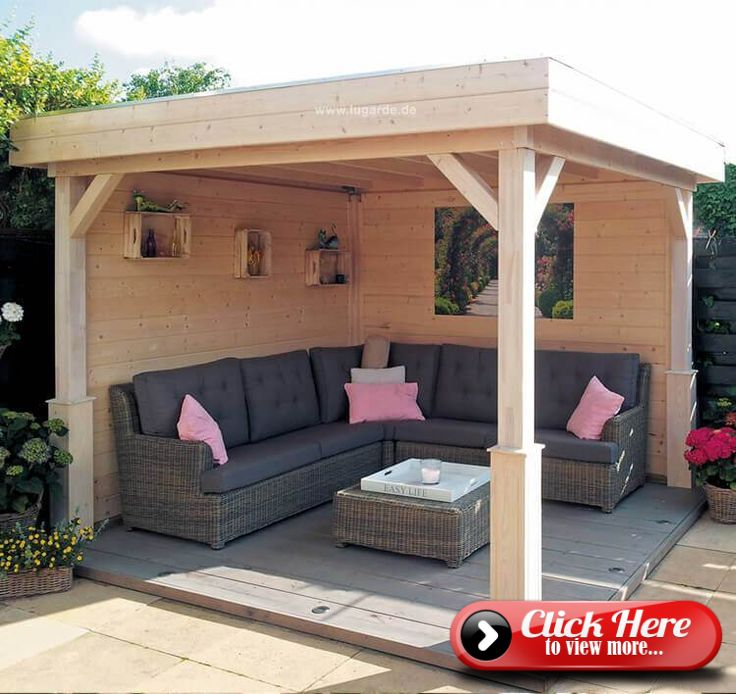 Detached gazebo Tenerife VT01 of Lugarde with flat roof