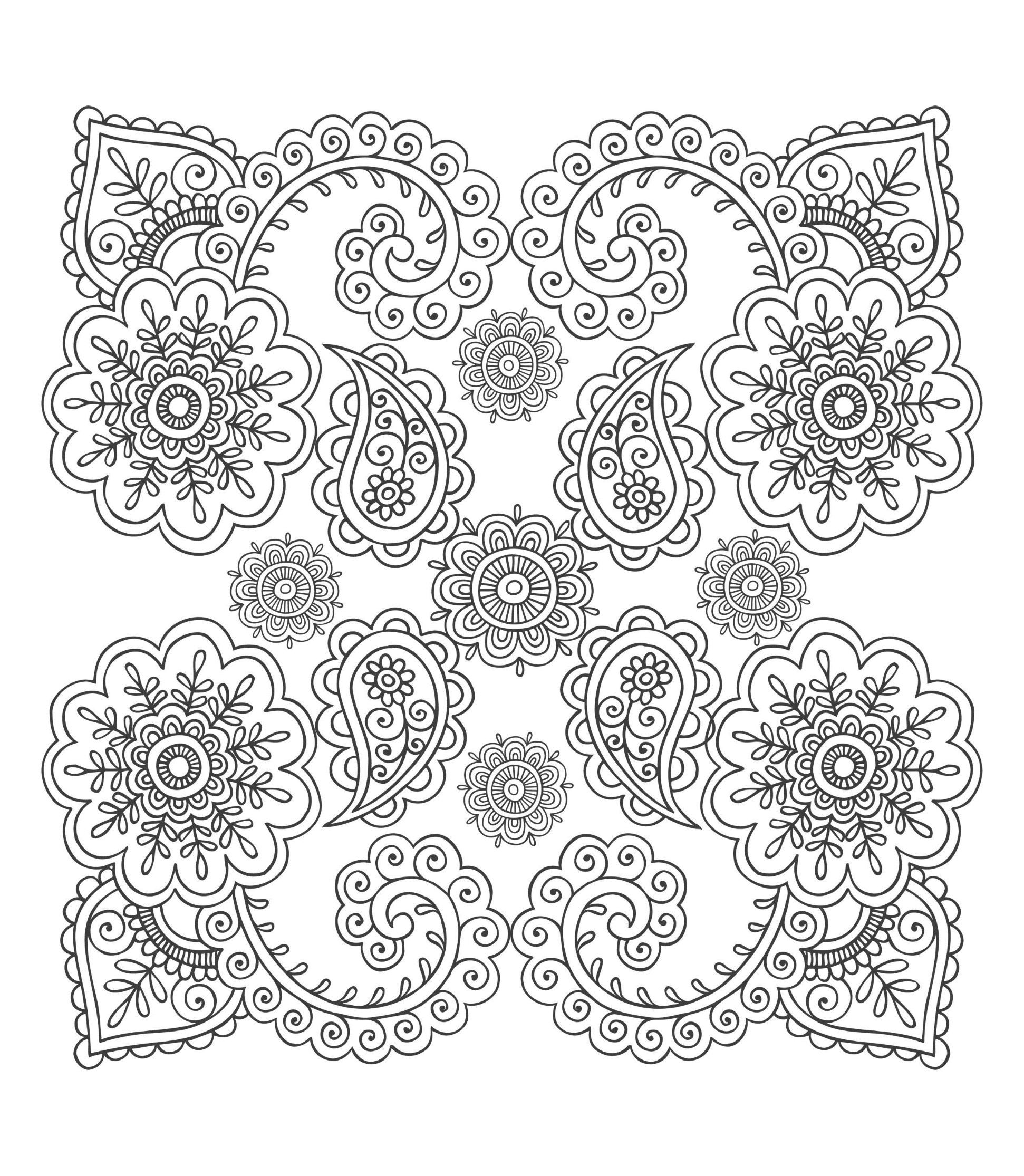 Free coloring page coloriage anti stress fleurs