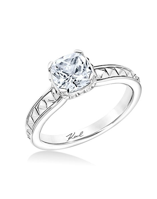 Pyramid studded design engagement ring Karl Lagerfeld 31ka136e