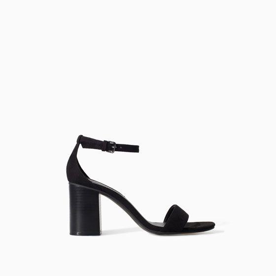 Image 1 of BLOCK HEEL SANDAL from Zara | Sandalias tacon