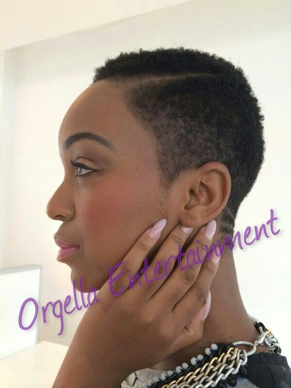 Nandi Mngoma Natural Hair Styles Short Sassy Hair