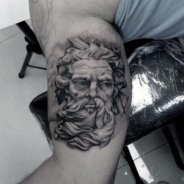 Greek God Tattoo For Men On Bicep | tatto | Pinterest ...