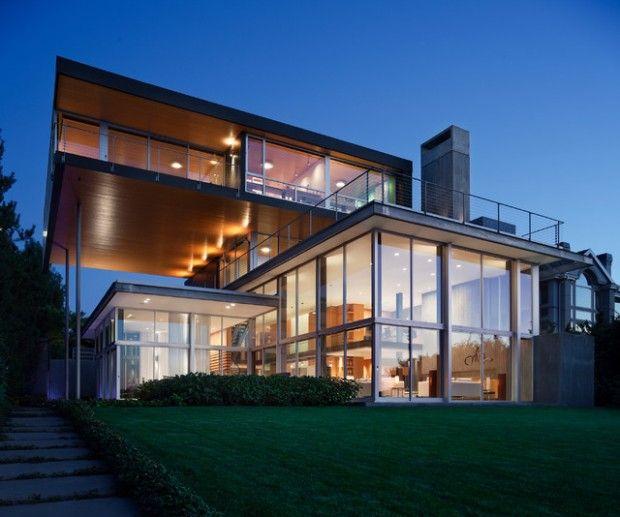Fachadas con grandes superficies vidriadas u2013 Fachadas de Casas