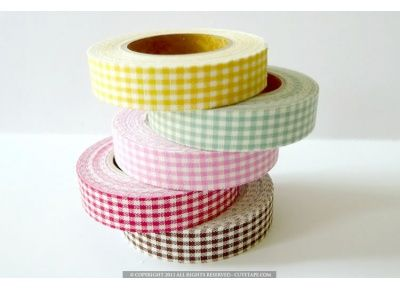 Mini Gingham Check Pattern Decorative Fabric Tape, $6.00  LOTS of things on this site to buy :) #fabrictape