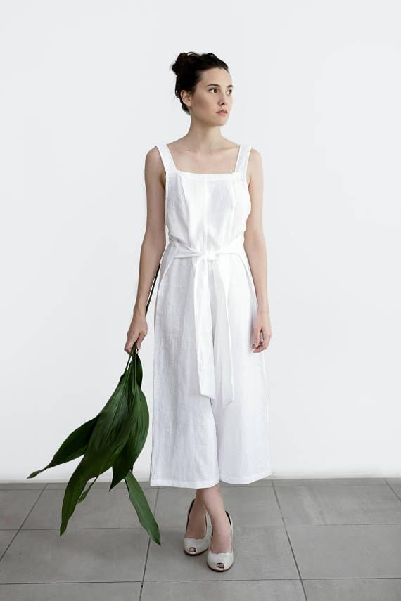 Linen Jumpsuit Overall Loose Fit Bridal