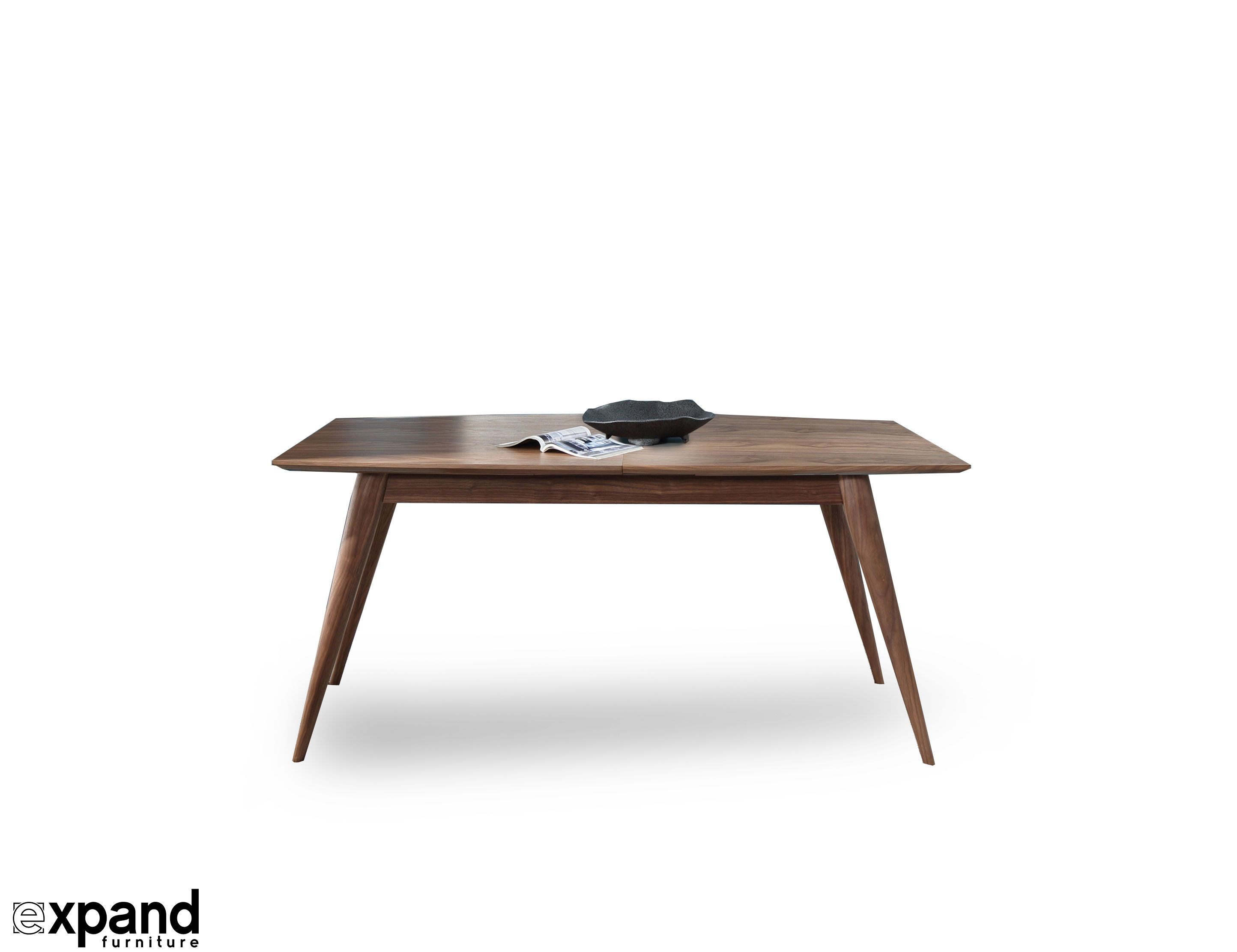 A wood table that extends and expands, for occasional dining or as a centerpiece of your kitchen or dining set. Purchase online, Shipped worldwide.