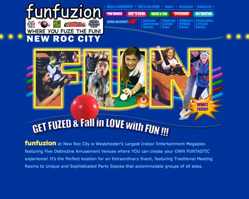 Funfuzion At New Roc City New Rochelle Ny An Indoor Arcade With 5 Kinds Of Fun Lazar Tag Bo Splash Page Arts And Entertainment Entertainment Websites