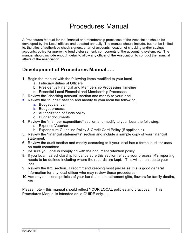 Examples of rules policies and procedures pictures to pin for How to write a procedure manual template