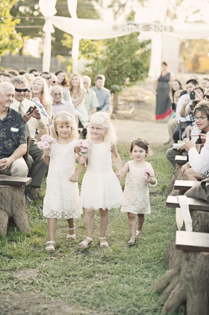 Flower girls...Photo by Ashley Maxwell Photography