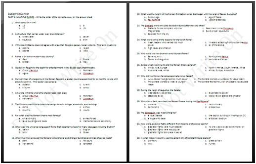 Ancient rome unit assessment answer key 6th grade social studies ancient rome unit test this is the unit test my team used it is designed as a multiple choice scantron test fandeluxe Choice Image
