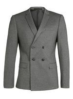 Grey Jersey Double Breasted Blazer - Mid Grey
