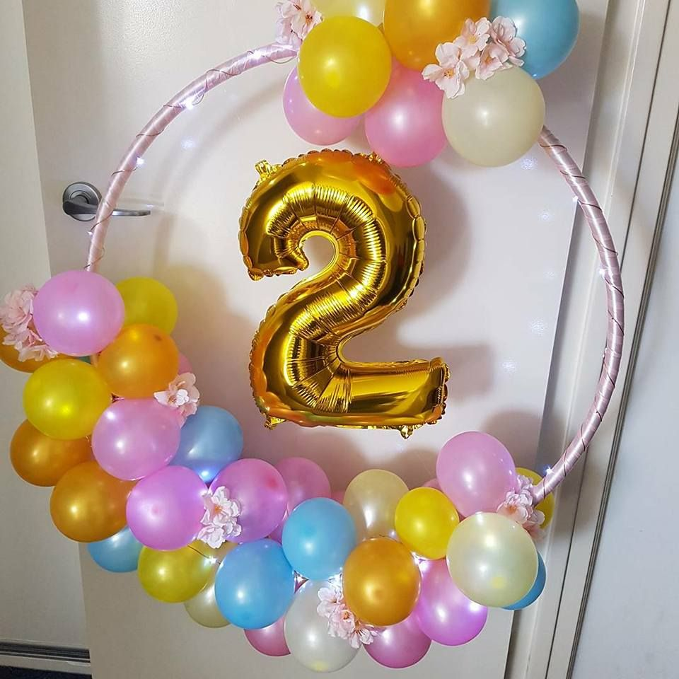 1st cumpleaños número Foil Balloon Baby Shower Decoraciones balones Balon Air Fil