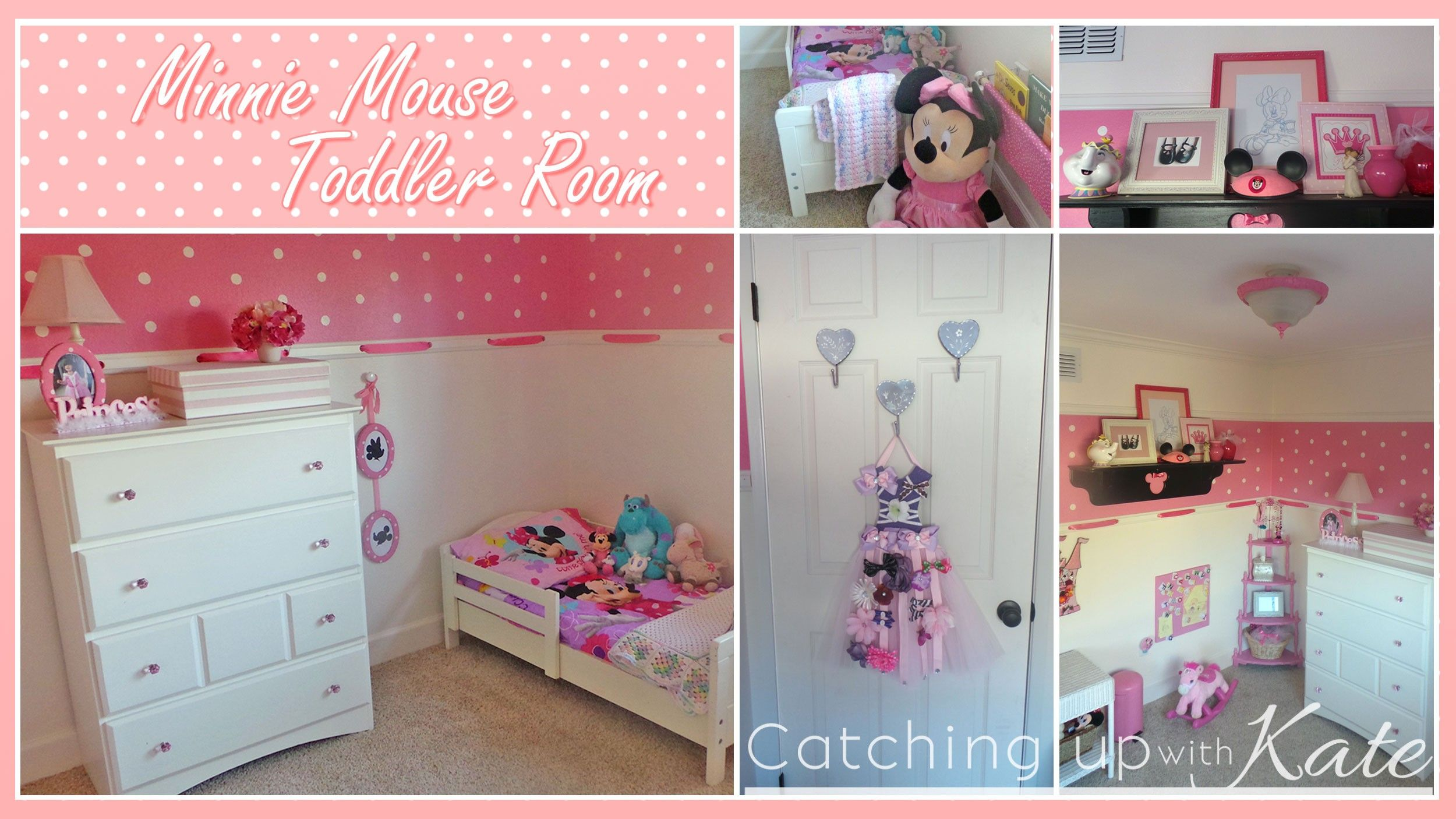 Minnie Mouse Room : DIY Decor | Diy toddler bed, Toddler ...