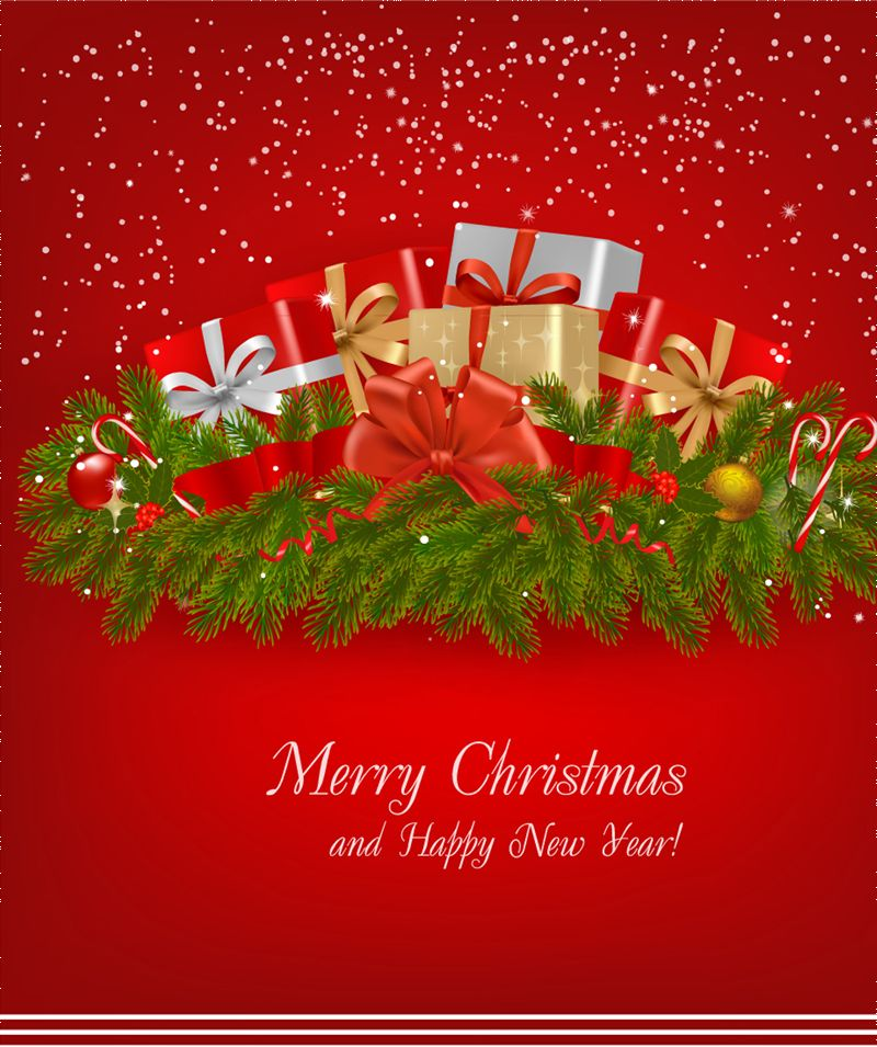 christmas card background vector Vector background Free