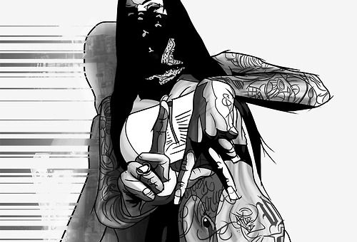 draw drawing pretty chicana swag style gang girl thug ...
