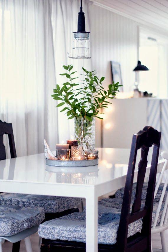 Un centro de mesa de comedor muy calido | decoracion | Pinterest ...