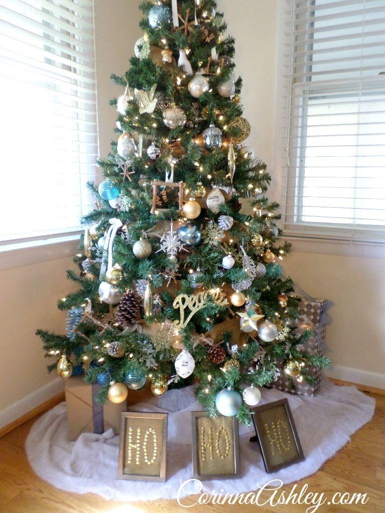 glittered woodland creatures on burlap christmas tree garland glitzglam woodland themed christmas tree diy tutorial series corinnaashle - Burlap Christmas Tree Garland