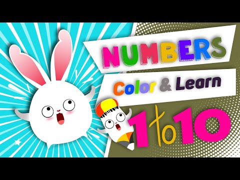 Learn Number From 1 To 10 Colors For Kids With Drawing And Coloring Recognize Numbers Funny Game For Kids To Funny Games For Kids Funny Games Games For Kids