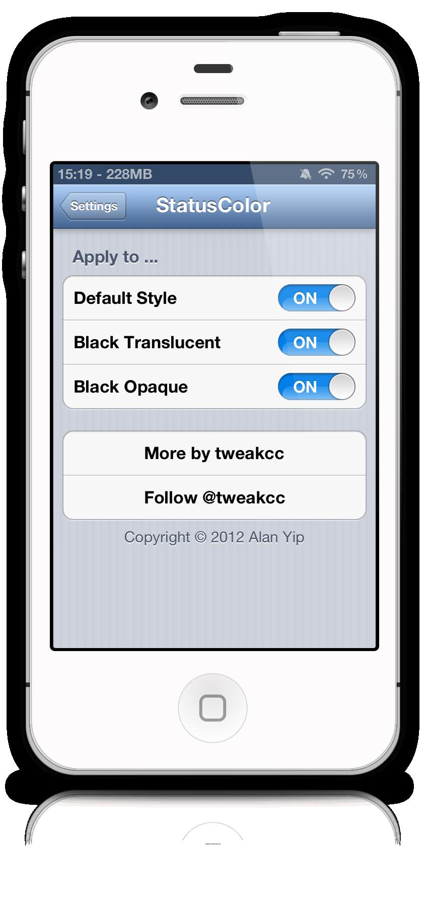 Cydia Tweak Statuscolor Bring The Ios 6 Status Bar To Ios 5 Cydia Tweaker