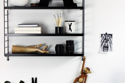 String Regal  Schwarz Shelfie Jennadores Black Monday Kay Bojesen Black Shelf String  Pocket 440x294 (440×294)