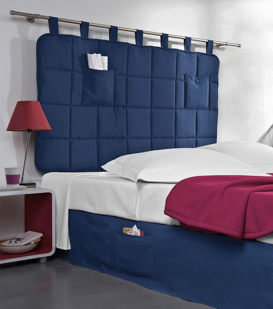 Cabezal cama acolchado con trabillas | Pinterest | Cabezal cama ...