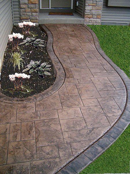 Concrete Patios Stamp Concrete Concrete Floors Zion Illinois Il New House Backyard