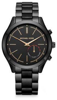 40b19dbf1284 Michael Kors Michael Kors AccessSlim Runway Black IP Stainless Steel Hybrid  Smartwatch