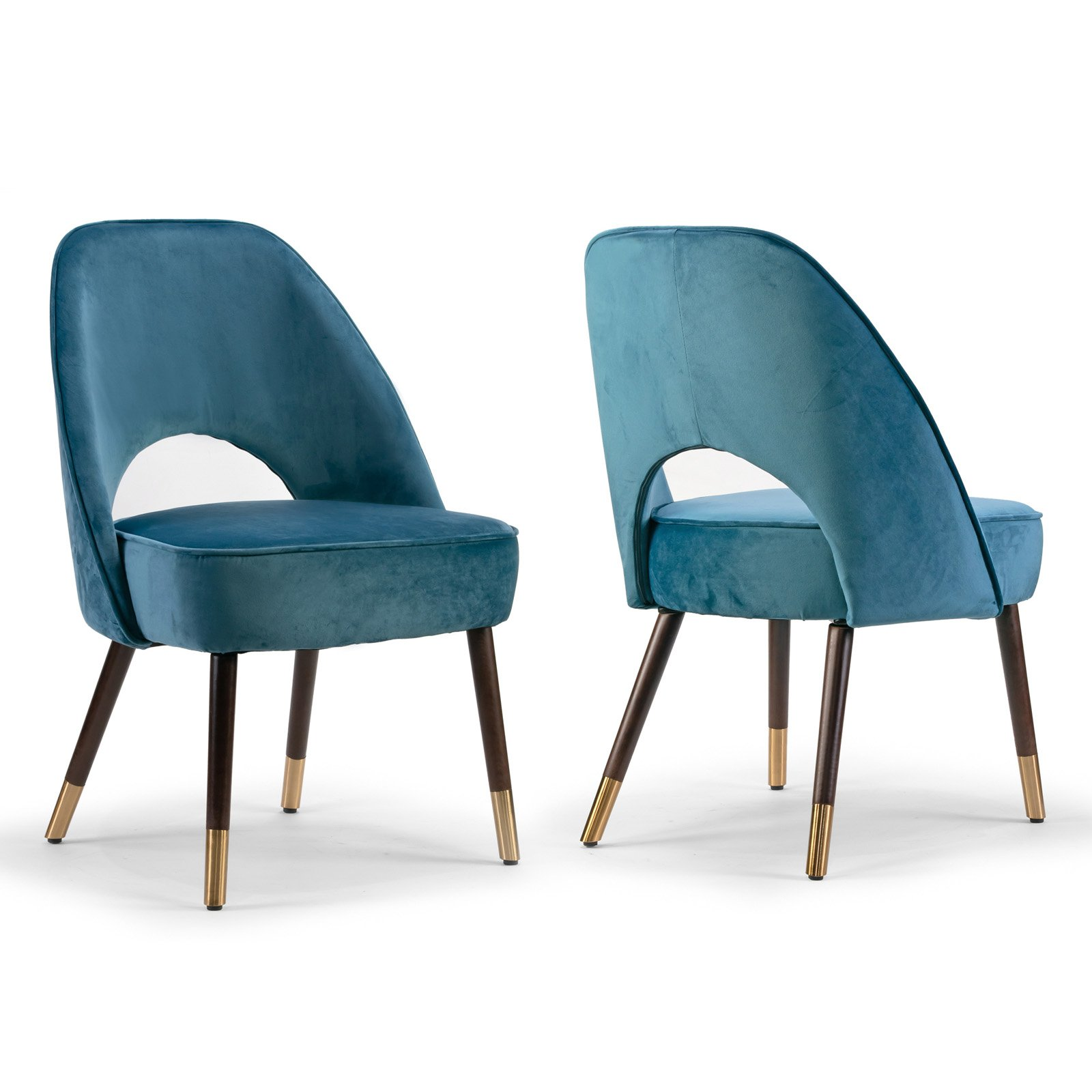 Glamour Home Amber Mid Century Modern Dining Side Chair Set Of 2