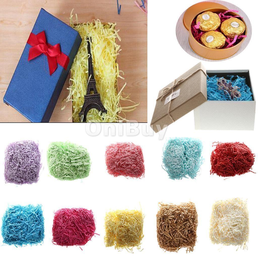 50g Luxury Shredded Tissue Hamper Paper Box Candy Packaging Stuffing Decor NEW