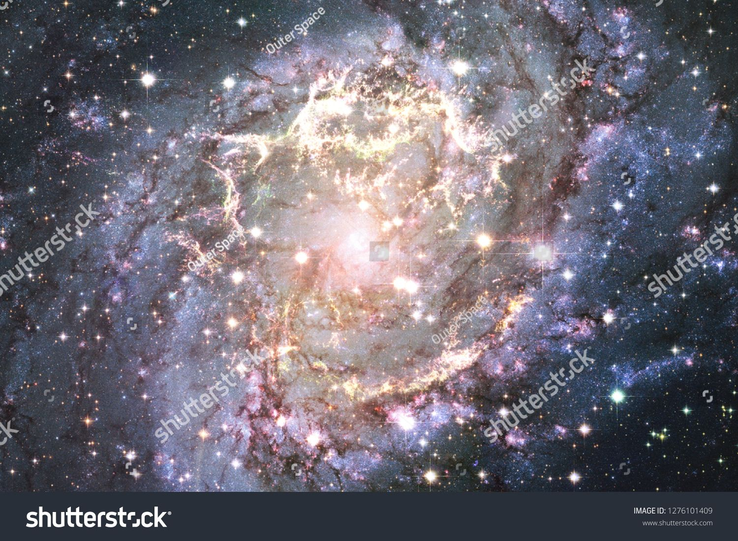 Cosmic Landscape Colorful Science Fiction Wallpaper With Endless Outer Space Elements Of This Image Furnished By Nasa A Cosmic Art Colorful Landscape Cosmic