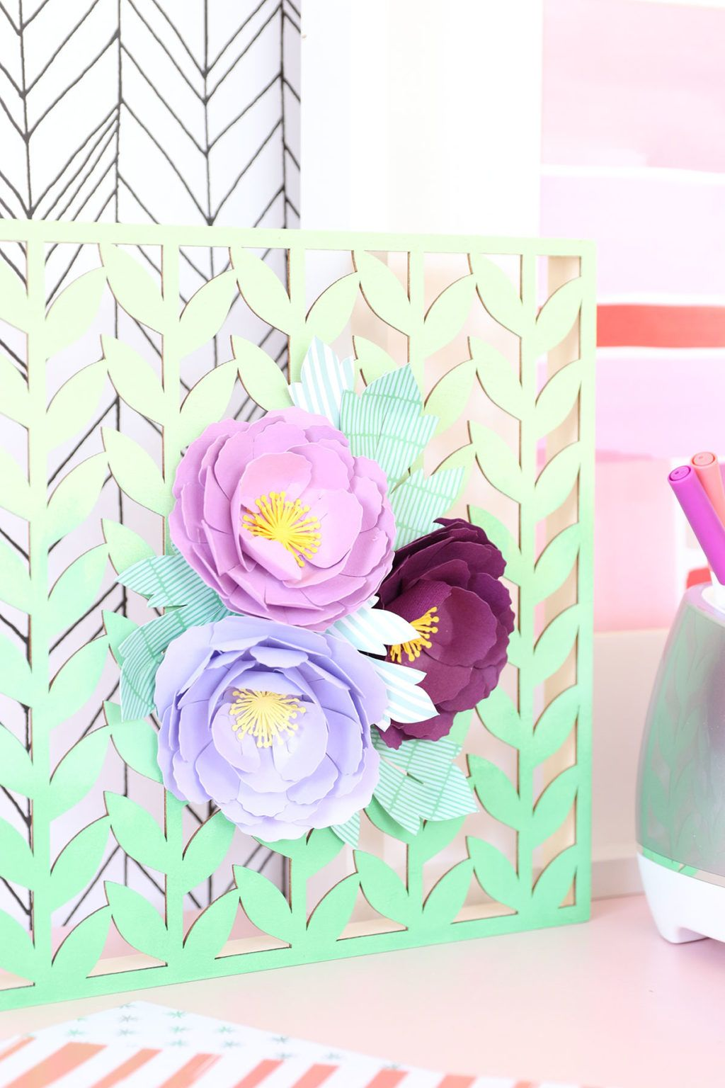 Perfect Paper Flowers With Cricut Wisteria Things To Do With Paper